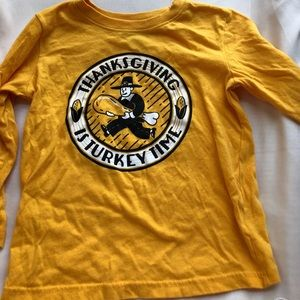 Boys 3T thanksgiving t shirt worn once EUC